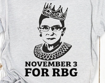 November 3 for RBG, Ruth Bader Ginsburg Shirt