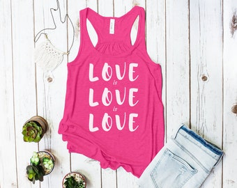 Love is Love is love racerback tank top (Gay Rights Tank)