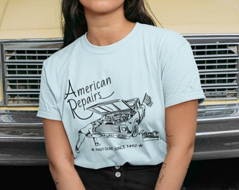 Vintage Car Shirt--Calling for an end to White Supremacy