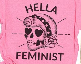 Hella Feminist Women's Scoopneck Tee