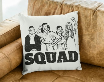 "Feminist Throw Pillow: ""Girl Squad"""