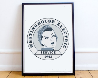 Westinghouse Rosie the Riveter Physical Wall Art