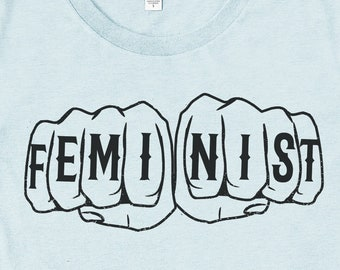 Feminist Tshirt: Feminist Fists by Fourth Wave Apparel, feminist clothing, feminist gifts, trendy plus size clothing, activist clothing