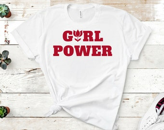 Feminist shirt: Girl Power, the future is female, plus sizes available! great gift, best friend gift, screen print, eco friendly ink tee