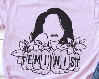 """Feminist Tshirt: """"Feminist Fists"""""""