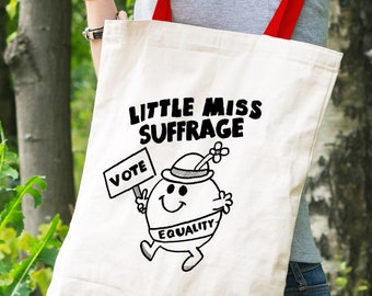 Little Miss Suffrage Feminist Tote Bag