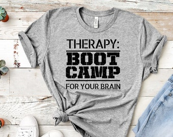Therapy: Boot Camp for your Brain Unisex T-Shirt
