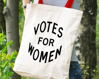 "Feminist Tote Bag: Historical ""Votes for Women"" Tote 