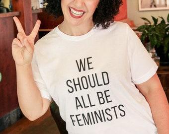 We Should All Be Feminist Unisex T-Shirt (Tribute to Chimamanda Ngozi Adichie)