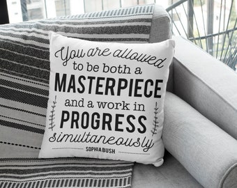 """Therapy Office Decor: """"You are allowed to be both a MASTERPIECE and a work in PROGRESS simultaneously"""""""
