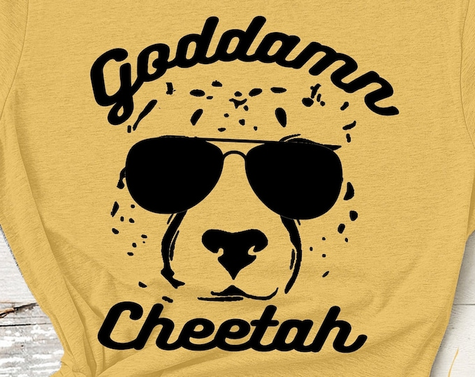 Featured listing image: Goddamn Cheetah Tshirt