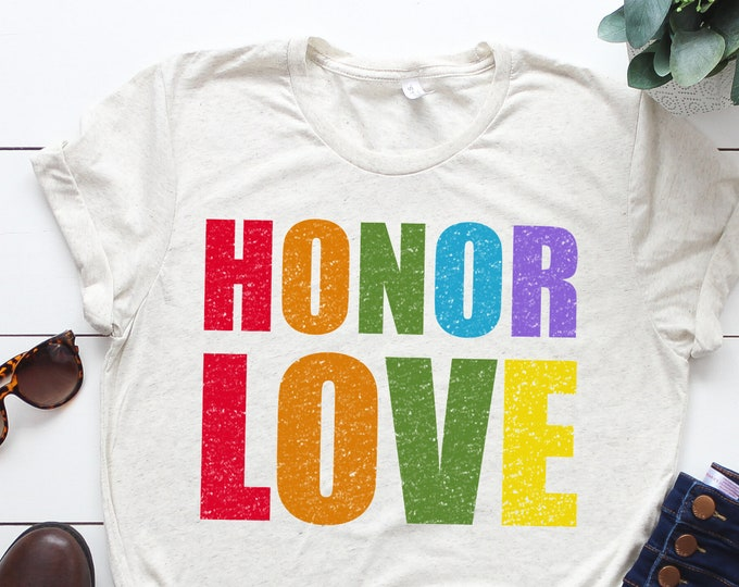 Featured listing image: Honor Love Shirt: Honor Code protest shirt in support of our LGBTQIA friends at BYU