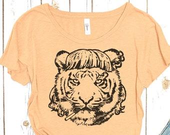 """Tiger Tshirt: """"I Saw a Tiger"""" Tshirt"""