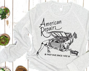 Vintage Car Sweater: American Repairs, Overdue Since 1492