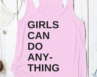 Girls Can Do Anything racerback tank top