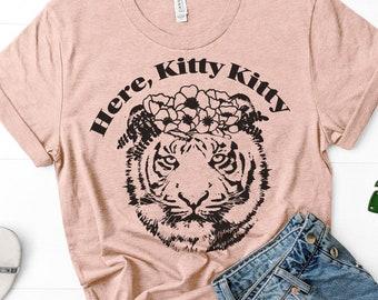 """Here Kitty Kitty"" Tiger King Tshirt"