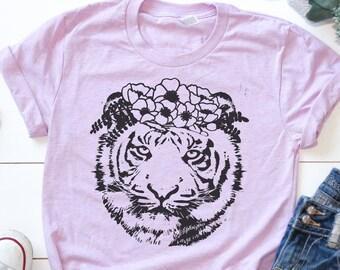 Flower Crown Tiger King Tshirt