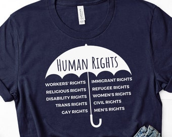 Human Rights Cover Us All Unisex T-Shirt (Umbrella Design)