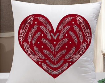 Heart Throw Pillow Case