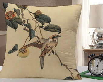 Vintage Design Bird Throw Pillow Case