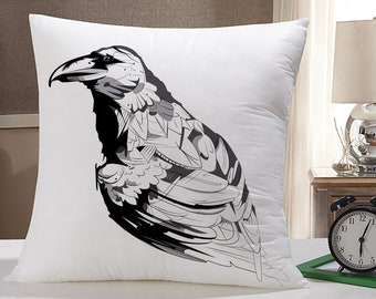 Cute Raven or Crow Pillow