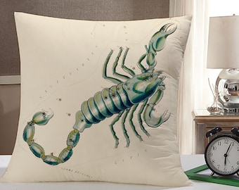 Scorpio Throw Pillow Case: Scorpio Zodiac Pillow