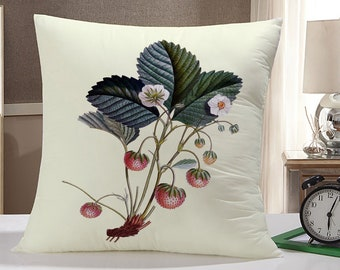 Vintage Strawberries Pillow