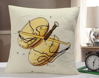 Libra Throw Pillow Case: Libra Zodiac Pillow