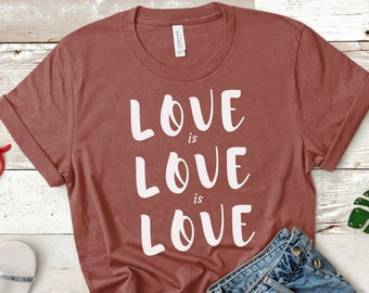 Love is Love Gay Rights Unisex T-Shirt (LGBT Pride)