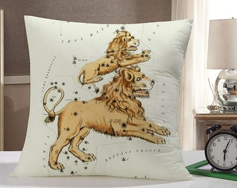 Leo Throw Pillow Case: Leo Zodiac Pillow
