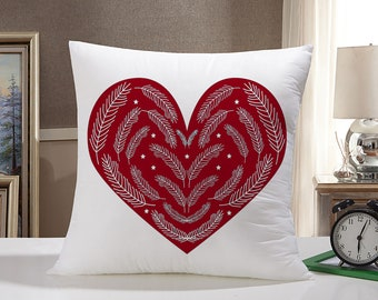 Heart Throw Pillow Case