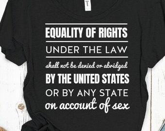 Text of the Equal Rights Amendment Shirt