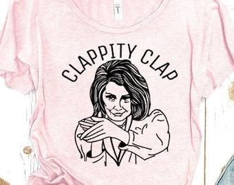 Nancy Pelosi Clapping Shirt Women's Scoopneck Tee