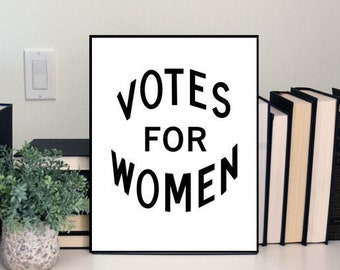 Votes for Women Physical Poster