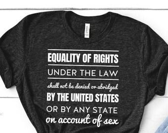 Equal Right Amendment (ERA) Text Shirt