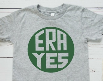 ERA YES Feminist Kids' Shirt (Equal Rights Amendment)