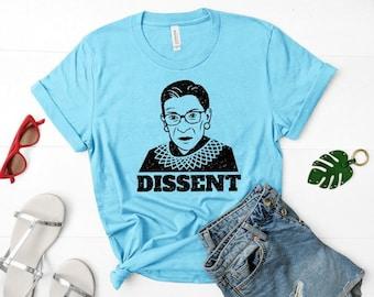 "Ruth Bader Ginsburg ""Dissent"" Unisex Feminist Shirt"