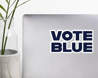 Vote Blue Laptop Decal