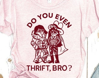 Do You Even Thrift, Bro? Women's Scoopneck Tee