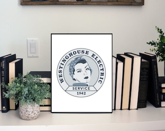 """Feminist Wall Art: """"Westinghouse Rosie the Riveter"""" feminist print 
