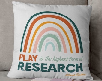 Play Therapy Occupational Therapist throw pillow cover school psychologist gift OT therapist gift therapy is cool occupational therapy