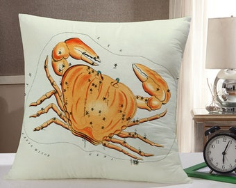 Cancer Throw Pillow: Cancer Zodiac Pillow