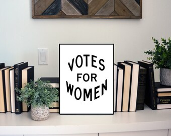 Votes for Women Physical Wall Art