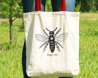 "Feminist Tote Bag: ""Queen Bee"" Tote 