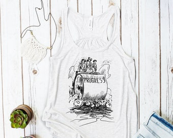 Progress Steam Roller Crushing Opposition Tank Top (Suffrage Era Cartoon)