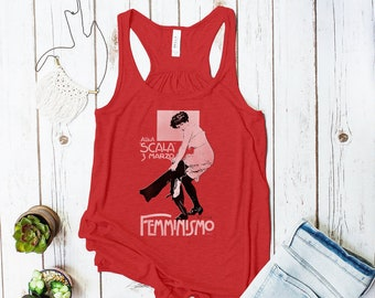 "Femminismo Tank Top (Italian ""Be the Pants"" Feminist Rally Poster)"