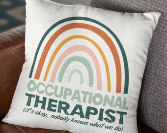 Occupational Therapist throw pillow cover play therapy school psychologist gift OT therapist gift therapy is cool occupational therapy