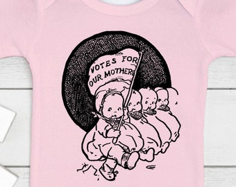 Votes for Our Mothers Feminist Baby Outfit (Bodysuit, multiple colors)