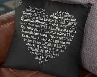 Feminist Throw Pillow: Phenomenal Women (Galentine's Day home decor)