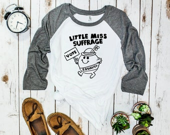 Little Miss Suffrage Feminist Shirt Unisex baseball tee | Votes for Women | suffrage shirt, Womens rights tee | cute feminist, also in kids!
